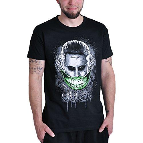 T-shirt Suicide Squad Joker Smile Elbenwald noir - M