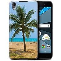 Custodia/Cover/Caso/Cassa Rigide/Prottetiva STUFF4 stampata con il disegno Thailandia Paesaggio per BlackBerry Neon/DTEK50 - Palma
