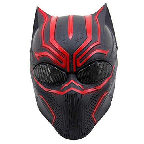 haoYK Airsoft Taktische Paintball-Maske für das ganze Gesicht, für Cosplay, Tierdesign, mit Metallnetz-Einsätzen an den Augen, perfekt für Halloween, Cosplay und Paintball-Jagd, RS -