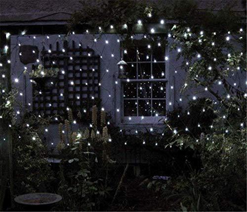 DulceCasa 2m x 3m 200 LEDs Filet de Lumière 8 Modes d'Eclairage Net Light Guirlande Lumineuse 3000K Rideau Lumière Imperméable Noël Fête Marriage Jardin Deco Blanc Froid