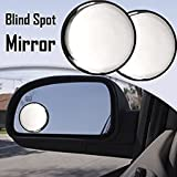Car Blind Spot Convex Side Rear View Mirror Black Corner Set of 2 (By Lowrence)