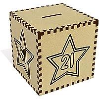 Preisvergleich für Azeeda Groß '21 Stern' Sparbüchse / Spardose (MB00051304)