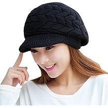 FEITONG Las mujeres sombrero de invierno skullies Gorros sombreros de punto Casquillo de la piel del conejo 7 colores