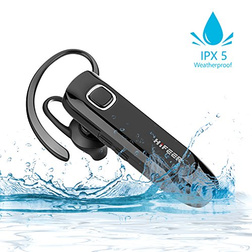 Bluetooth Kopfhörer Kabellos In Ear, HIFEER Bluetooth Headset Dual Rauschunterdrückung mit Mikrofon, V4.1 IPX5 Wasserdicht Ohrhörer High Definition Klang (Bluetooth-telefon)