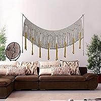HmDco Macrame hechos a mano la pared cuelgan Tapices de Pared tejida Arte Boho Textiles Decoración de pared para colgar en pared,90*158cm.