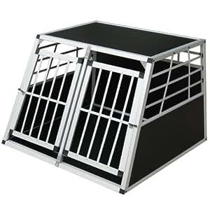 zoomundo 63882997 Alu Hunde Doppeltür Transportbox 2-Türig