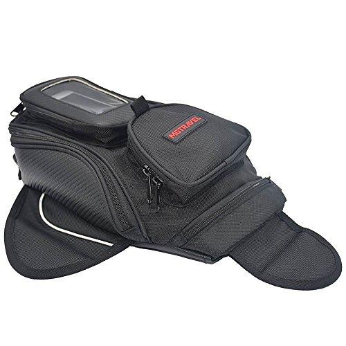 magnetisch Tank Handtaschen dem Mann für Moto Wasserdicht Tank Panniers Sitz Reise Outdoor Sports Tasche Gepäckträger Oxford schwarz für Harley Davidson, etc S Schwarz