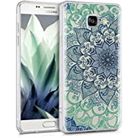 kwmobile Coque pour Samsung Galaxy A5 (2016) – En silicone TPU coque protectrice pour portables – Étui translucide en bleu vert transparent
