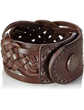 BOSS Orange Herren Armband Maxel, Gr. One size, Braun (Dark Brown 201)