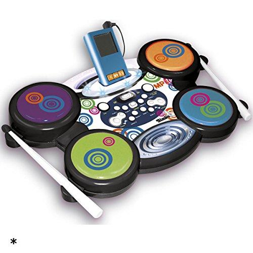 My Music World I-Drum mit MP3-Anschluß, 40 x 25 x 5 cm: Elektronisches Bassdrum für Kinder Schlagzeug