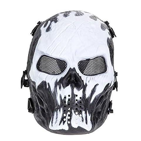Ghost Skull Softair Totenkopf Halloween Maske, CS Ausrüstung & Feld Maske (Größe 2) (Cool 2 Person Kostüme)
