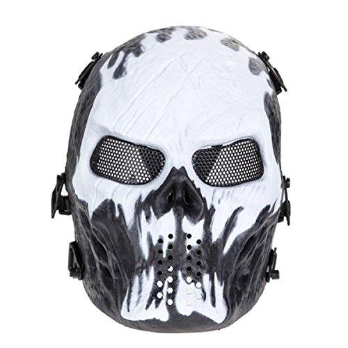 Ghost Skull Softair Totenkopf Halloween Maske, CS Ausrüstung & Feld Maske (Größe 2) (Call Of Duty Ghosts Maske Kostüm)