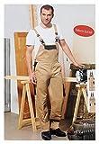 Herren Latzhose Gr. XL 56 beige Arbeitshose