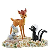 Enchanting Disney Pretty Bambi, Thumper & Flower Figurine, Resin, multicolour, 20 x 25 x 17 cm