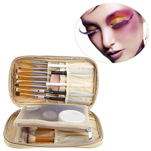 PINEsong Pro Makeup Pinsel Tasche Kosmetik Werkzeug Pinsel Organizer Halter Tasche Tasche Kit (Gold)