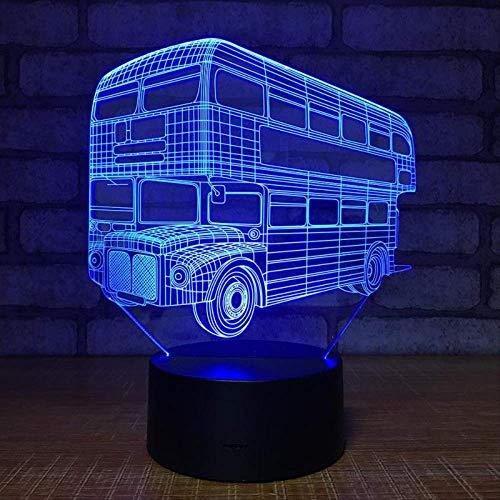 Nachtlicht 3d Doppeldecker Tourim Bu Elektronisches Produkt Viual Cutomized Automotive Geburtstag Chritma Wette Für Spielzeug Geburtstag Weihnachtsgeschenke (Automotive Innenbeleuchtung)