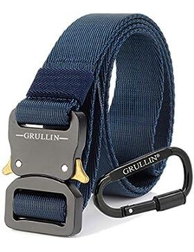 GRULLIN Men Tactical Cinturón de nylon, aparejo militar Cinturón de cintura, Cinturón de nylon Molle EDC Clip...