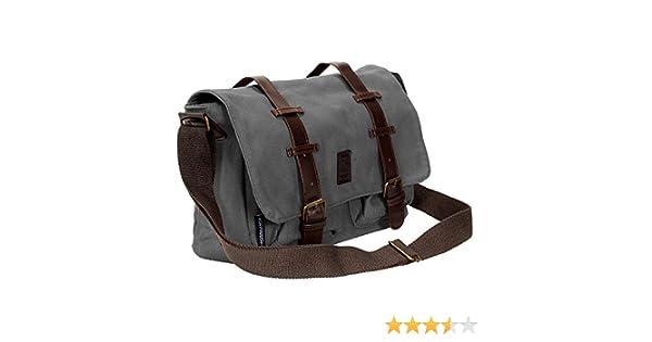 Crosshatch Cajon PU Leather Canvas Satchel-Charcoal  Amazon.co.uk  Clothing 6d111327f5a55