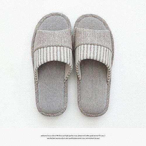 DogHaccd pantofole,Coppie di inverno home biancheria di cotone pantofole donne spessa coperta, pavimento antiscivolo a casa durante la primavera e autunno uomini pantofole Brown1