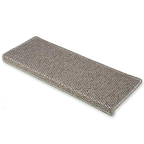casa pura® Kalkutta 15x Sisal Look Rectangle Stair Carpet Tread