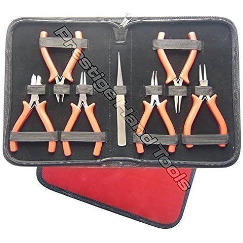 PTL® Mini Pinze Gioielli Kit di attrezzi Kit Set di pinze per perline con ganasce di nylon # 1788