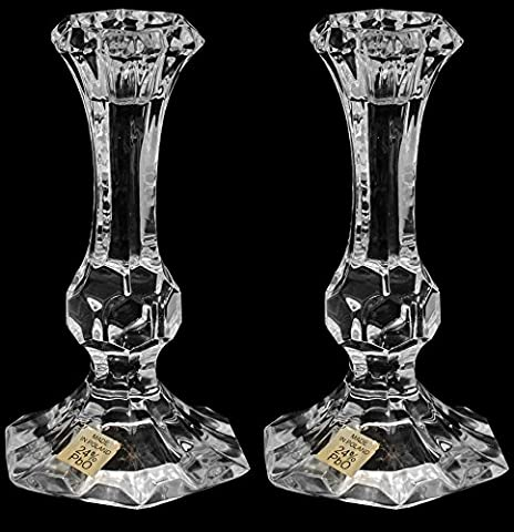 Pair of Crystal Glass Candlesticks 24% Lead Crystal Candle Holder,