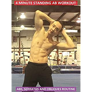 4 Minute Standing Ab Workout - Abs, Serratus and Obliques Routine