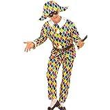 Widman - Disfraz de arlequín payaso para hombre, talla L