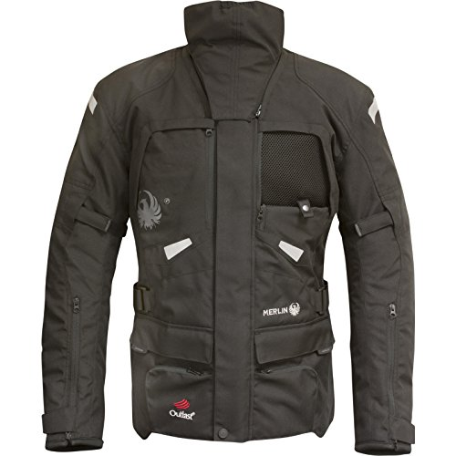 Preisvergleich Produktbild MWP084 / BLK / XL - Merlin Horizon Outlast 3-in-1 Airbag Ready Motorcycle Jacket XL Black