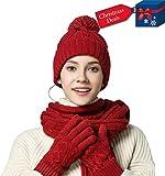 KENZOE Damen Handschuh-Set Einheitsgröße Gr. onesize, hellrot