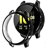 (2 Pack) Elf Cat Compatible with Galaxy Watch Active2 Case, 2 Packs Soft TPU Bumper Full Around Screen Protector Cover for Sa