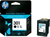 Original HP printer CH561E 301 ink cartridge black Deskjet / PSC/ Photosmart/ Officejet /Digital Copier printers - Easy Mail Packaging - Foil Inks