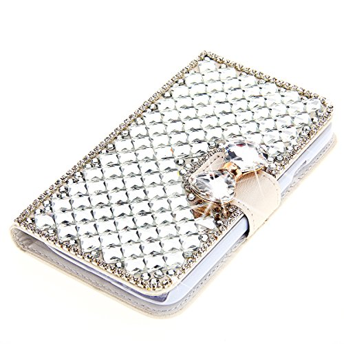 Moonmini Für Huawei Ascend Y520/Huawei Ascend Y540 Hülle reg; 3D Bling Strass Diamanten BowKnochen PU Leder Flip Case Tasche mit Kartenhalter