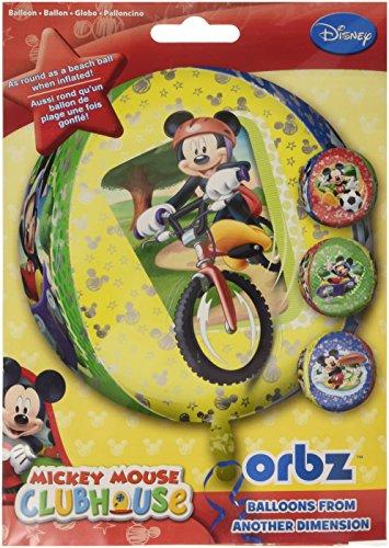 Kostüm Gesicht Maus - Amscan 15Zoll/38cm Orbz Disney Micky Maus Folie Ballon