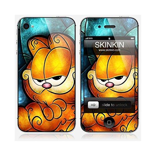 Coque iPhone 5 et 5S de chez Skinkin - Design original : Garfield par Mandie Manzano Skin iPhone 4