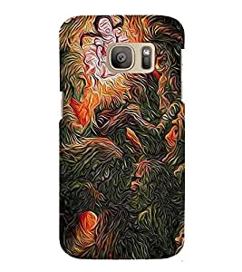 PrintVisa Designer Back Case Cover for Samsung Galaxy S7 :: Samsung Galaxy S7 Duos :: Samsung Galaxy S7 G930F G930 G930Fd (Modern Art Painting)