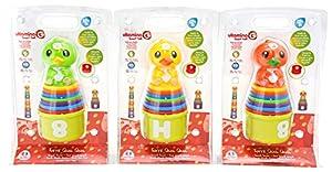 Globo Toys Globo - 5145 Vitamina_G 3 Color Duck Torre Juguete (9 Piezas)
