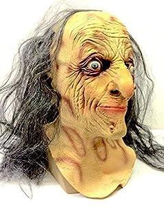 The Rubber Plantation TM 619219293396 Evil Witch Mask - Disfraz de Halloween de látex, unisex adulto, talla única