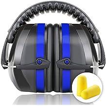 Fnova Protectores auditivos plegables 34dB más altas Muffs NRR,Cancelación de Ruido/Hearing Protector orejeras ajustable,adapta a adultos y niños