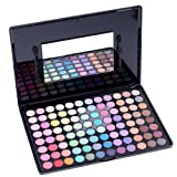 Abody Paleta de Sombra de ojos de 96 colores brillo con 2 aplcadores para maquillaje cosméticos