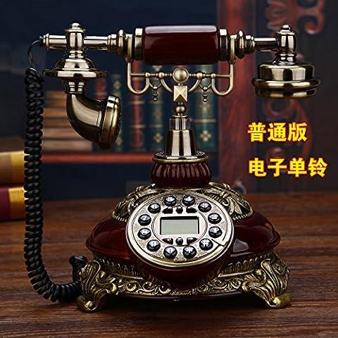 motesuvar Antik Telefon, europäischer Stil, Vintage, Old Style, Massivholz Rotary Wohnzimmer, Home Telefon Set
