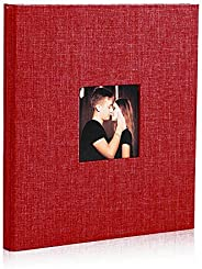 Photo Album Linen,Womdee Self Adhesive Photo Album Magnetic Scrapbook Album Scrapbook For Valentines Day Birth