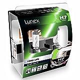 LUNEX H7 LONG LIFE 200% Scheinwerfer Halogenbirnen Lampen 12V 55W PX26d 3000K duobox (2 Stücke)