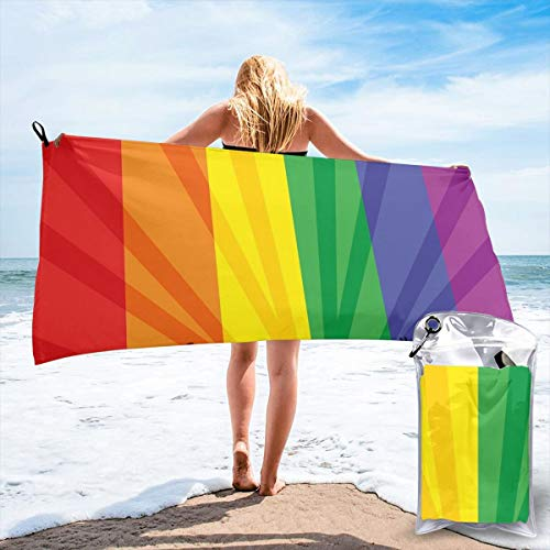 New Shorts People Celebrating International Day for LGBT Community Colorful Striped Bath Swimming Pool Yoga Pilates Picnic Blanket Beach Towels 27.5