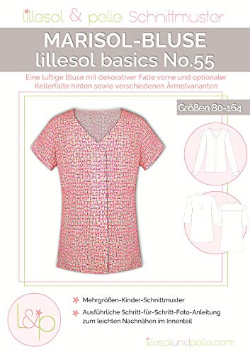 Lillesol & Pelle Schnittmuster basics No55 Marisol-Bluse Papierschnittmuster