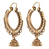 Ganapathy Gems Oxidized Brass Hoops With...