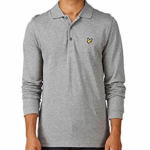 Lyle & Scott. Herren Modern Langarmshirt, Logo Grau
