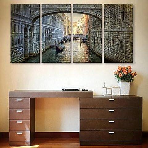 NSJ e-HOME en lienzo eres el canal de la ciudad Sistema de la pintura decorativa de 4 , 16