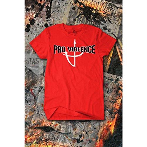 Cops Schwarzes T-shirt (Pro Violence T-Shirt ALL COPS... Rot-Schwarz (Gr. XL))