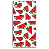 Sony Xperia Z3 Hülle Silikon Case Schutz Cover Melone Sommer Essen